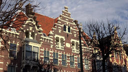 Netherlands South Holland Rotterdam typical Dutch house facade in Delfshaven Footage