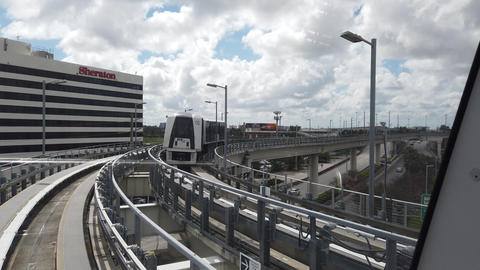 Miami Airport Air SkyTrain Ride Live Action