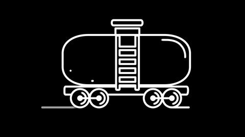 Tank line icon on the Alpha Channel Animation