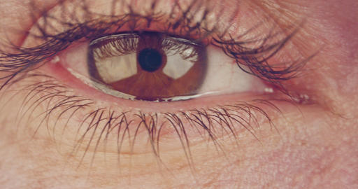 Extreme macro shot of a brown human eye GIF