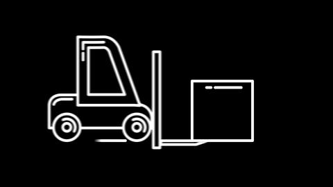 Loader line icon on the Alpha Channel Animation