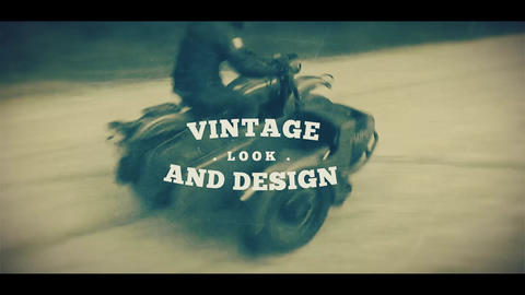 Vintage Old School Promo After Effects Template