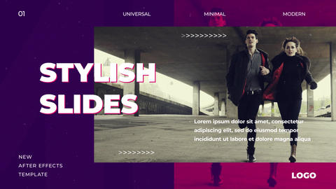 Stylish Slides After Effects Template
