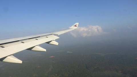 Airplane window view Footage