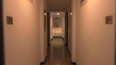 Walking down a hotel Footage