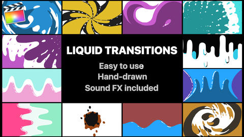 Liquid Motion Transitions Pack Apple Motion Template