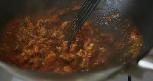 Mediterranean cuisine: tomato sauce Footage