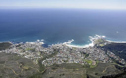 Aerial View of Cape Town Sea and Coast
