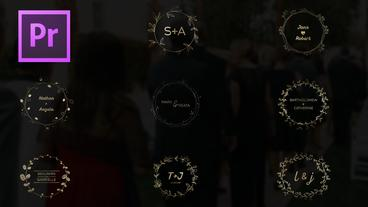 Gold Wedding Titles Motion Graphics Template