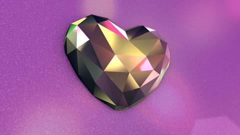 Beautiful Diamond Shaped Heart on a Pink Background GIF