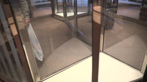 Hotel revolving door in New York City Footage