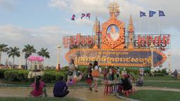 Royal Palace Park ,Phnom Penh,Cambodia Footage