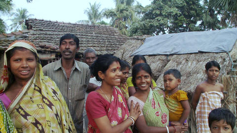Indian villagers smiling for the camera Footage
