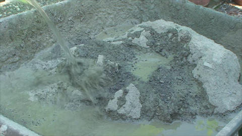 concrete mixes shovel Footage