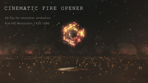 Neo Cinematic Fire Opener After Effectsテンプレート