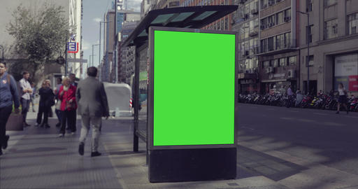 Billboard Ad with Green Screen in the city streets –…, Live Action