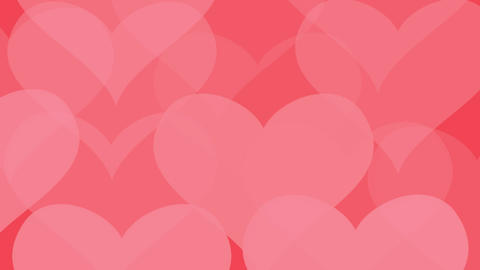 Love hearts pattern Background.Abstract bokeh red heart texture.Love romantic background Animation