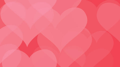 Love hearts pattern Background.Abstract bokeh red heart... Stock Video Footage