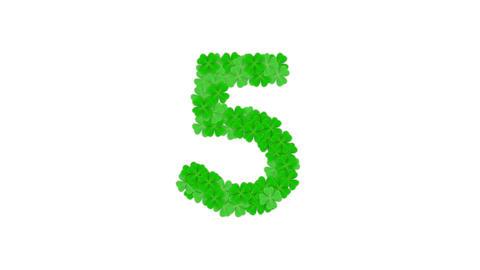 [alt video] Clover four leaf pattern Alphabet set letter number…