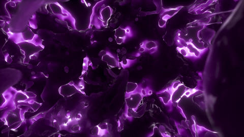 Colorful Slime Flow Purple Animation