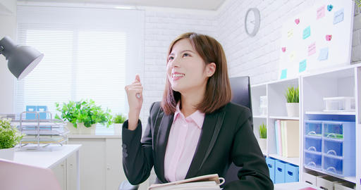 success asian business woman Stock Video Footage