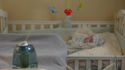 Humidifier In Child Room Footage