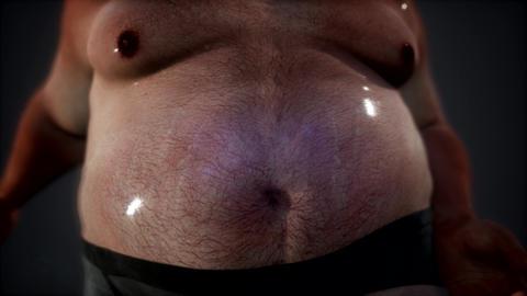 fat man posing in studio Footage