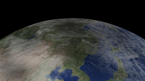 Image impinging on the Earth Stock Video Footage