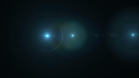 Lens flare or Star flare in black background.Modern nature flare effect with black background for Footage