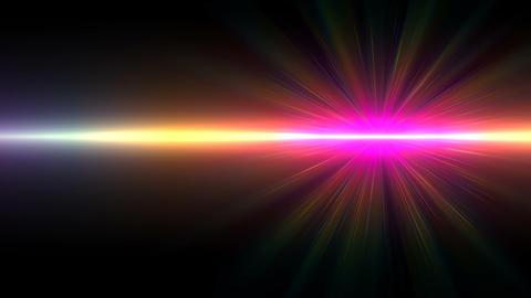 Abstract motion of sun burst lighting flare.Spectrum vertical light Live Action