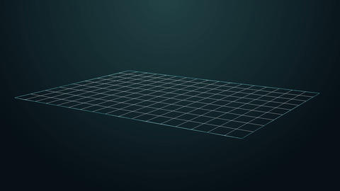Abstract grid floor motion video.Moving flow for showing object concept Animation