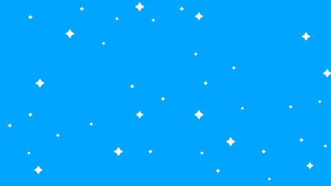 Stars blink on sky motion video.Beautiful shining stars.2D catoon stars motion Animation