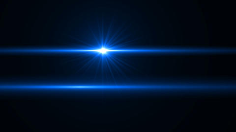 Blue lens flare or Star flare in black background.Modern nature flare effect with black background Footage