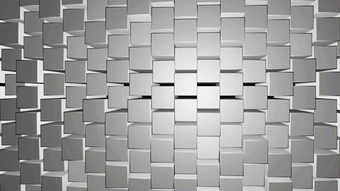 White And Grey Rectangle Background Texture motion video. 3d render Rectangle moving.3d Block Animation