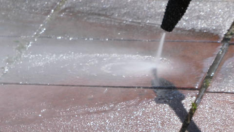 Closeup on pressure washer Live Action