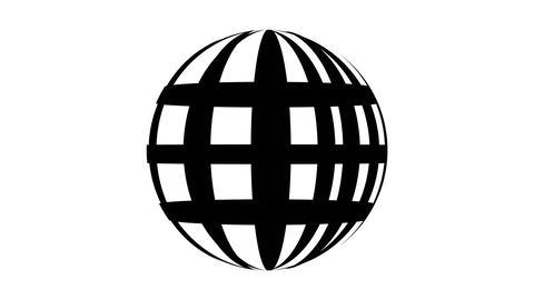 Outline world icon web design rotation on white background motion video.Web icon internet moving Animation