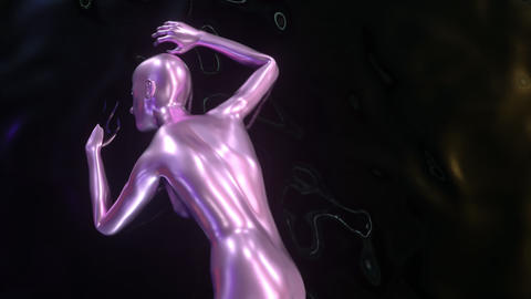 4K Abstract Female Form Footage