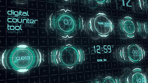 Digital Counter Tool After Effects Template