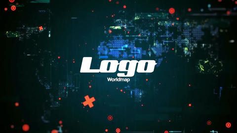 Worldmap Glitch Logo Pack After Effects Template