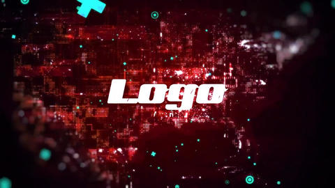 World Map Glitch Logo Pack After Effects Template