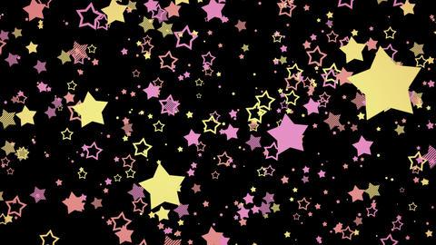 ゆっくり接近するホップな星エフェクト-ピンク/透過背景 CG動画