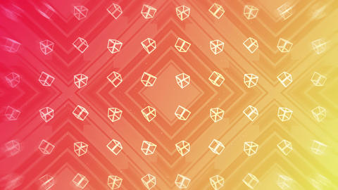 Red and yellow. Modern gradient for business design. Abstract rainbow background in pastel colorful Animación