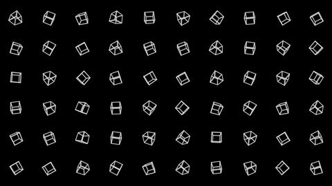 Geometric cube pattern. Cube dancing. Business symbol loop animation. Business network design Animation