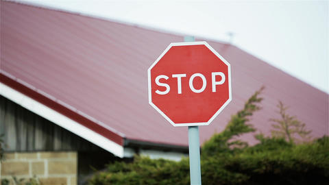 Stop Street Sign Live Action