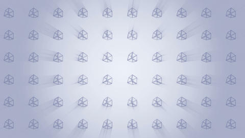 Geometric gray cube pattern. Cube dancing. Business symbol loop animation. Business network design Animation