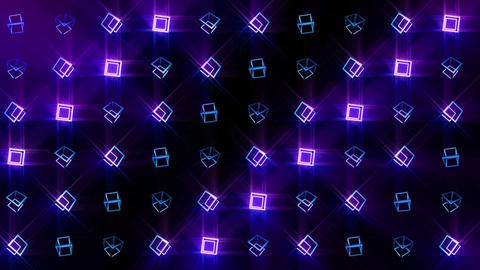Geometric blue cube pattern. Cube dancing. Business symbol loop animation. Business network design Animation