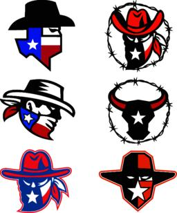 Texas Outlaw Mascot Collection ベクター