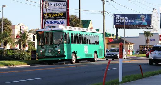 I-Ride Trolley Bus In Orlando Florida Footage