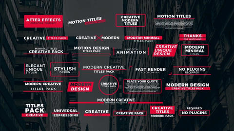 30 Modern Titles After Effects Template