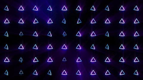 Geometric blue pyramid pattern. Pyramid dancing. Business... Stock Video Footage